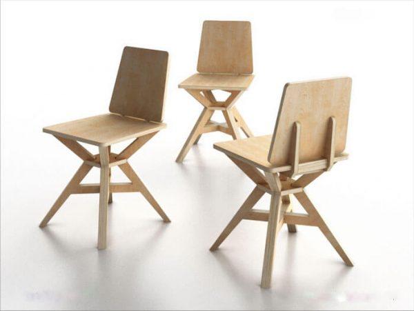 Silla de madera cnc 38 ashop studio - Formica madera ...